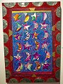 eastern sky crazy quilt panel